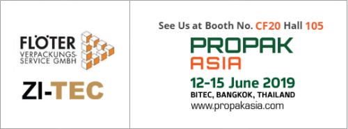 ZI-TEC and Floeter will exhibit at Propak 2019
