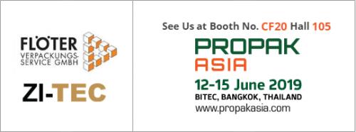 ZI-TEC and Floeter will exhibit at Propak 2019