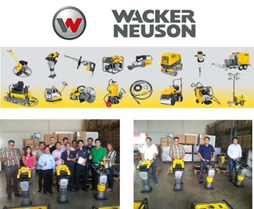 May 2015, ZI-TEC Thailand cooperates with Wacker Neuson Thailand