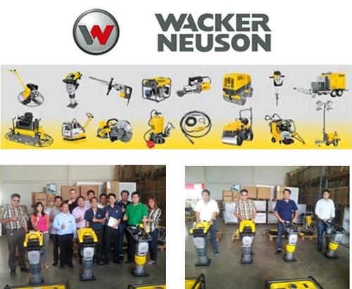 May 2015, ZI-TEC Thailand cooperates with Wacker Neuson Thailand